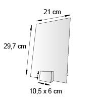Porte leaflet de comptoir format 21x16 cm