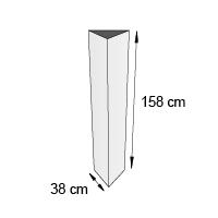 Totem triptyque format 38x158 cm