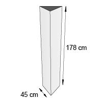 Totem triptyque format 45x178 cm
