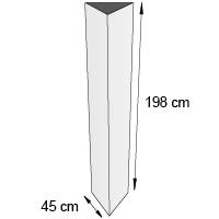 Totem triptyque format 45x198 cm