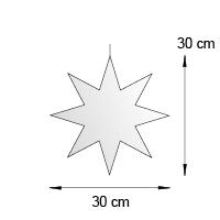 Silhouette suspendue format 30 cm