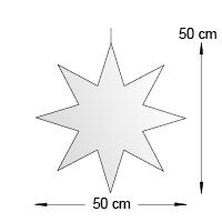 Silhouette suspendue format 50 cm