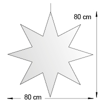 Silhouette suspendue format 80 cm