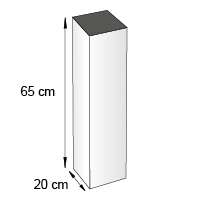 Totem carre de comptoir format 20x65 cm
