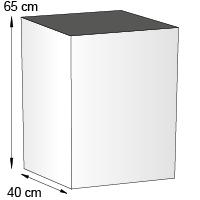 Totem carre de comptoir format 40x65 cm