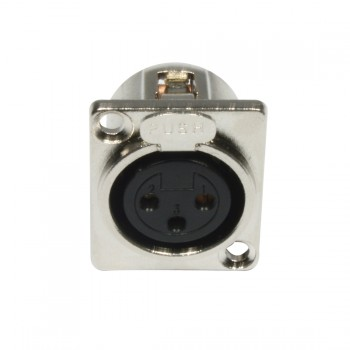AC-C-XF3 XLR 3pin female panel metal