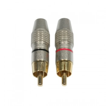 AC-C-RMG/SET RCA Cinch plug male gold