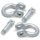 Shackle w screw bolt, 2000kg