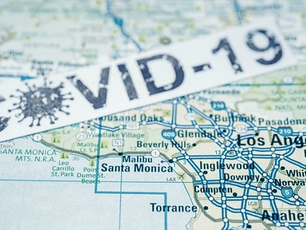 COVID cases surging in Los Angeles