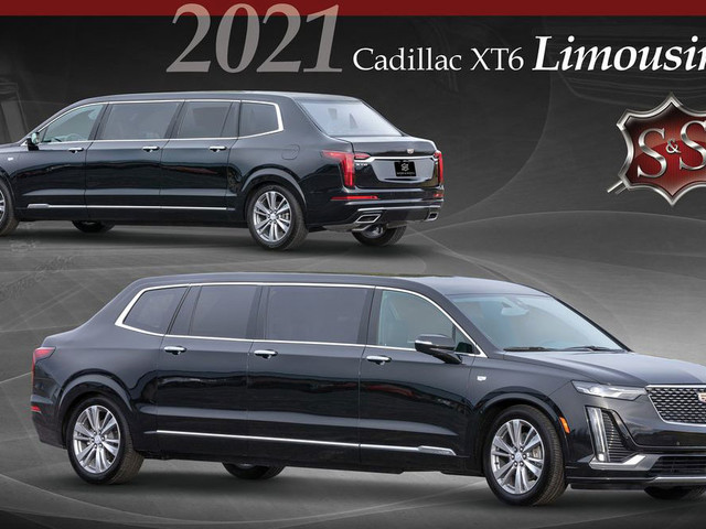 """This Cadillac XT6 """"Presidential"""" Limousine Has Six Doors, Three Rows, And A Trunk"""