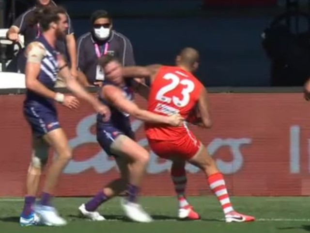 Buddy Banned: Lance Franklin cops suspension for elbow to Luke Ryan