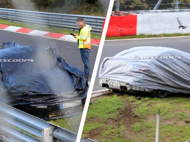 2020 BMW M3 And Porsche 911 GT3 Prototypes Crash On The Nürburgring