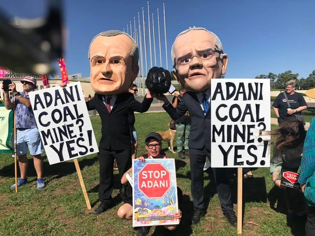 Stop Adani protesters target federal parliament opening