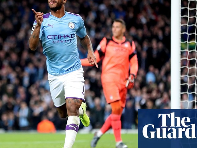 Sterling hat-trick helps 10-man Manchester City thrash Atalanta 5-1