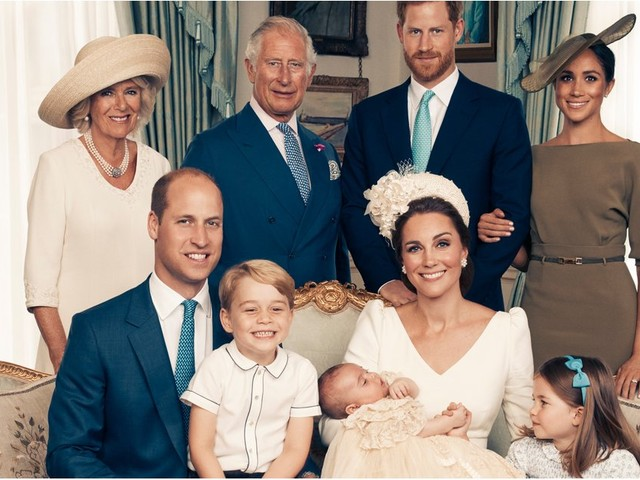 Naturally, Princess Charlotte Steals the Spotlight in Her Brother's Official Christening Portraits