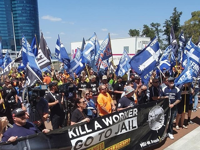 WA unions rally for new industrial manslaughter law