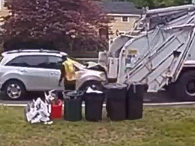 Massachusetts Driver Slams Into The Back Of A Garbage Truck
