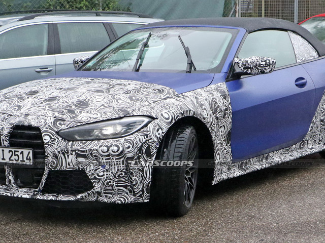 New 2021 BMW M4 Convertible Spied In Frozen Blue