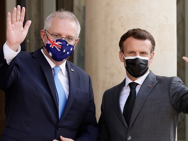 Scott Morrison yet to speak with Emmanuel Macron since tearing up submarine contract