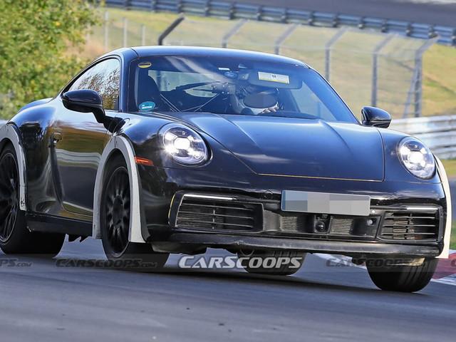 Porsche Spied Testing Weird High-Riding 911 On The Nurburgring