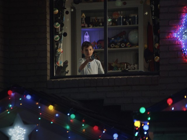 Young boy 'spreads the merry' with lonely neighbour in Australia Post's Christmas campaign by The Monkeys