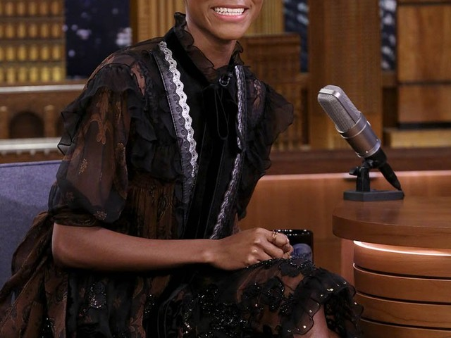 Letitia Wright is delightful on Good Morning America and The Tonight Show starring Jimmy Fallon