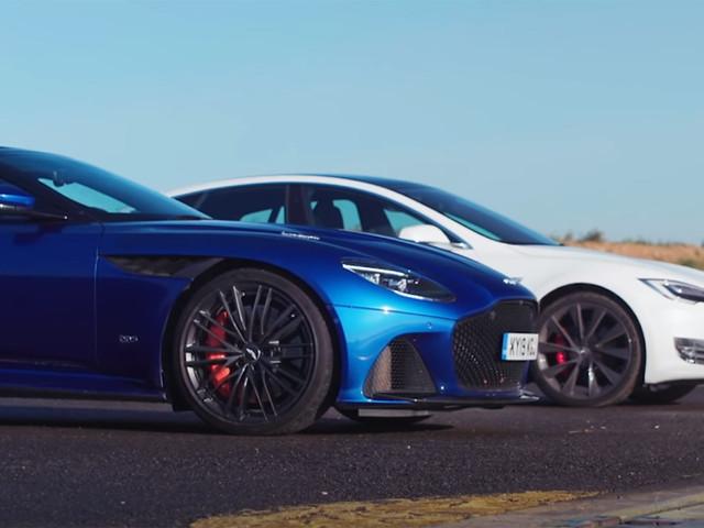 Can The Aston Martin DBS Superleggera Keep Pace With A Tesla Model S?