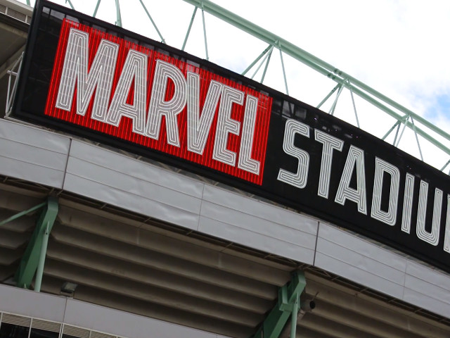 Marvel Stadium has officially arrived