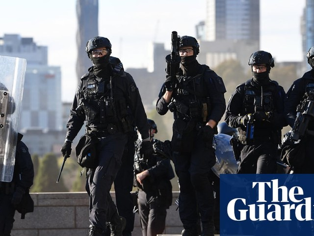 Arrest footage and teargas raise concerns about Victoria police's use of force to quell protests