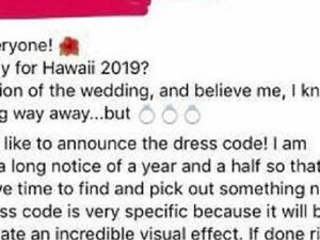 Bride's crazy $1000 dress code