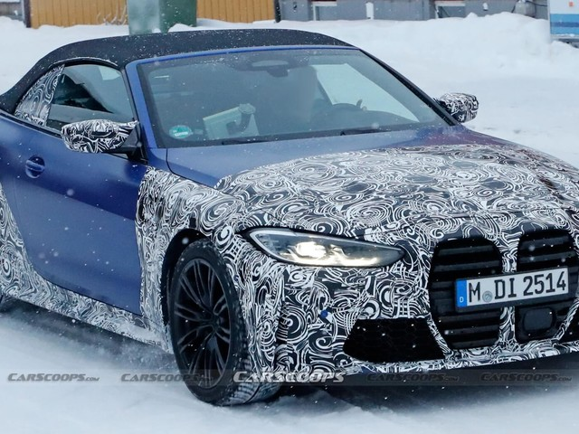 2022 BMW M4 Convertible Puts On More Camo But It Still Can't Hide Its Looks