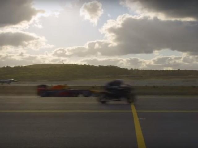 Kawasaki Ninja H2R Wins Drag Race Against Fighter Jet, F1 Car & Tesla [Video]