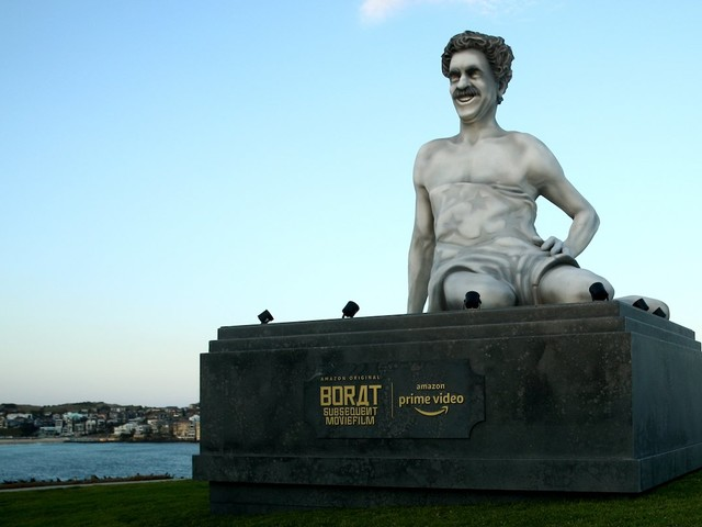 A Giant Borat Statue Appeared In Bondi Beach Yesterday