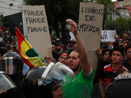 Bolivia's election sparks fiery protests over preliminary results