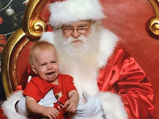 Hilarious Santa photos gone wrong still make treasured keepsakes