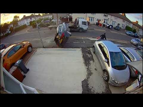 Audi Driver Attempts To Pass Flatbed Truck… It Doesn't Go Well