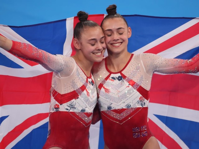Britain's Twin Gymnasts Jessica and Jennifer Gadirova Won Olympic Bronze Side by Side