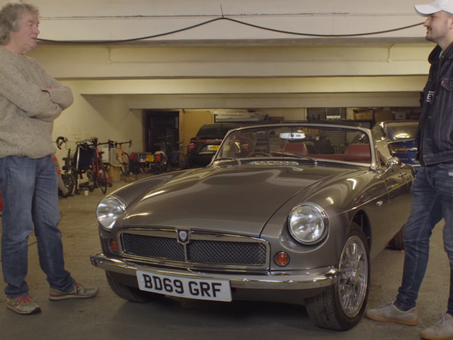 James May Checks Out An Awesome Electric MG Roadster