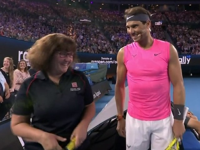 Next Aus Open champs? CFA volunteer Deb teams up with Rafael Nadal at charity event