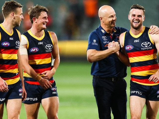 Adelaide coach responds to Brad Crouch's 'run-down' comments after trade to St Kilda
