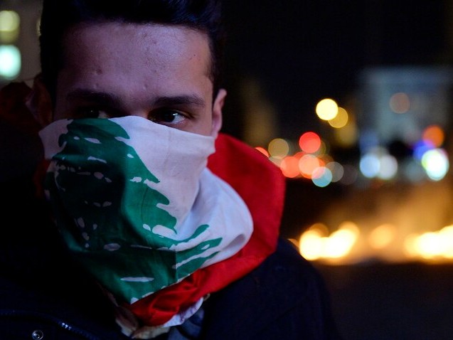 Dozens arrested following protests outside Lebanon's central bank