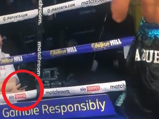 Trouble detail in boxing photo sparks outrage