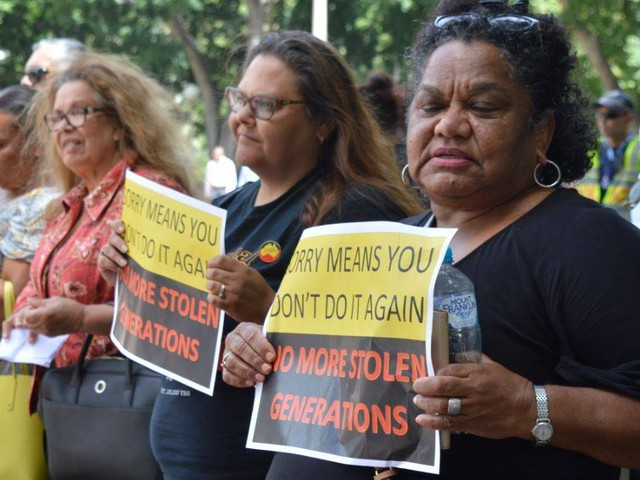 Protest against forced removals held on anniversary of Stolen Generations apology