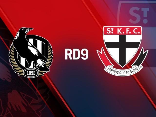 Live AFL, Round 9: Collingwood v St Kilda