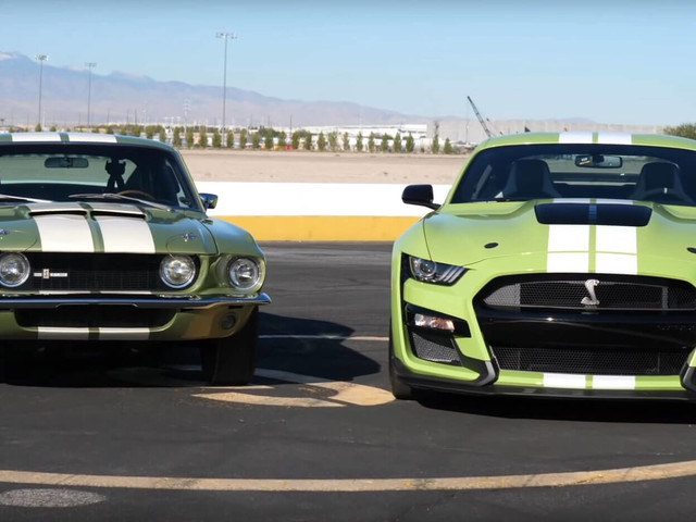2020 Ford Mustang Shelby GT500 Meets Its Ancestor At The Drag Strip