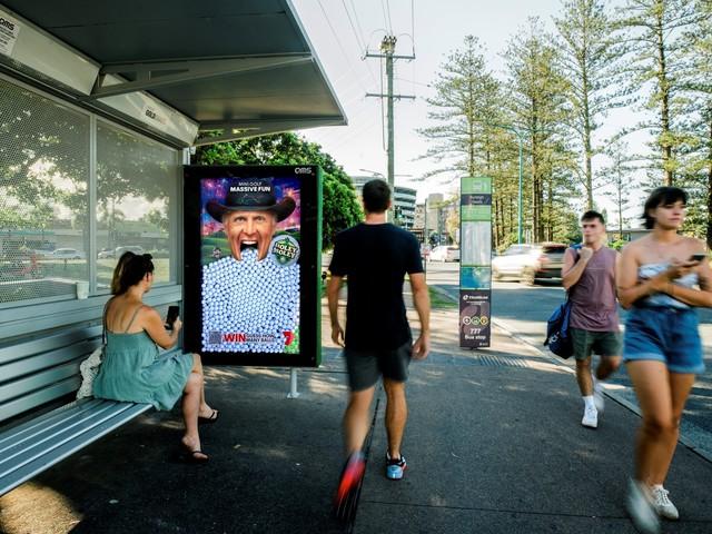 Seven's Holey Moley promotes chance to win via interactive billboard