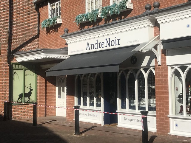 Two charged over ram raid at Farnham jewellers which saw £20,000 of jewellery stolen