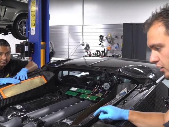DIY Bugatti Veyron Oil Change Isn't For The Faint Of Heart