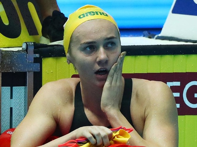 Swimming world championships 2019: Aussie Ariarne Titmus upsets Katie Ledecky to win 400m freestyle