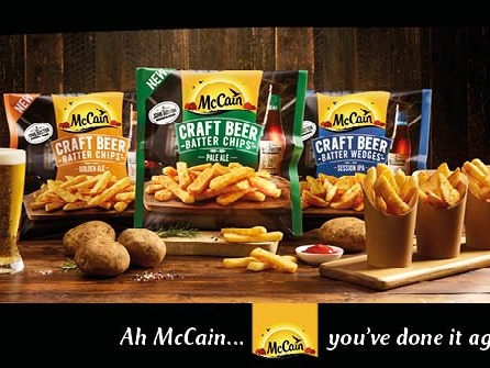 McCain launches a tongue-twisting ad for its beer battered chips